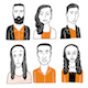 Collection of Faces - GraphicRiver Item for Sale