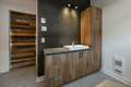 Modern bathroom with barn wood sink cabinets - PhotoDune Item for Sale