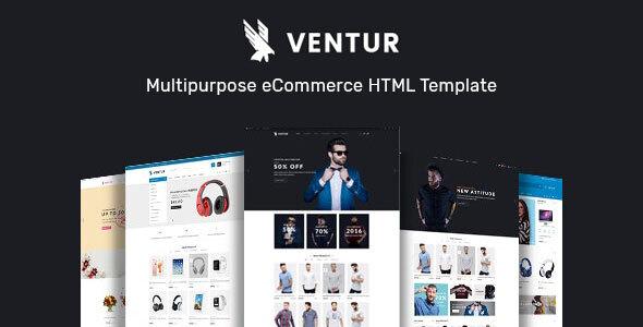 Download Ventur – Multipurpose eCommerce HTML Template Nulled