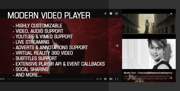 Nowoczesny odtwarzacz galerii wideo