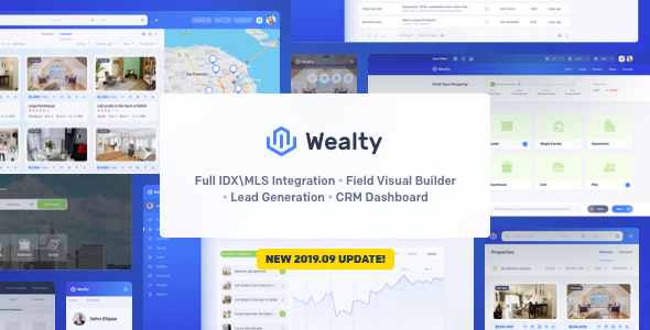 Wealty - Multipurpose Real Estate WordPress Theme