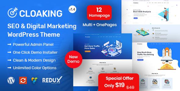 Cloaking - SEO & Digital Marketing Agency WordPress Theme