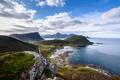 view of Beautiful mountain landscape with Norwegian sea, lofoten, Norway - PhotoDune Item for Sale