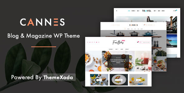 Cannes - Blog News and Magazine WordPress Theme