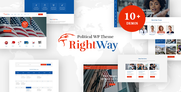 Right Way | Election Campaign and Political Candidate WordPress Theme Download