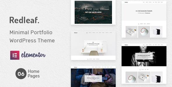 Redleaf - Minimal Portfolio WordPress Theme