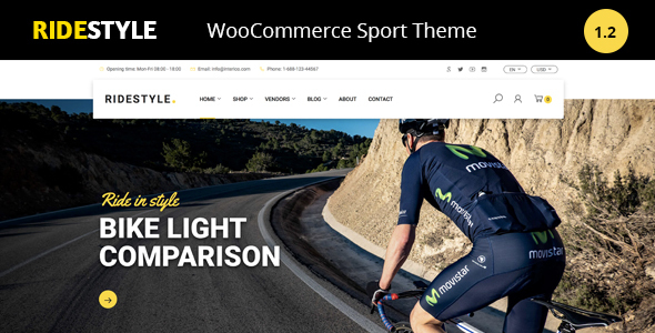 Ridestyle -Bike  Sport Store WooCommerce Theme