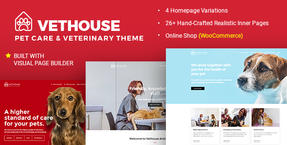 Vethouse - Pet Care & Veterinary Theme