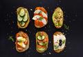 Set of fresh sandwiches snacks - PhotoDune Item for Sale