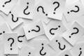 Background texture of printed question marks - PhotoDune Item for Sale