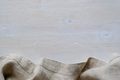 Linen fabric border over painted white wood - PhotoDune Item for Sale