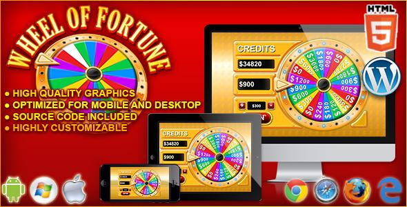 Wheel of Fortune - gra kasynowa HTML5