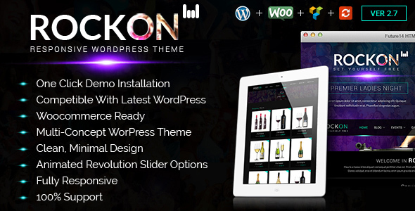 Rockon - Night club, DJ & Party WordPress Theme