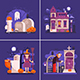 Halloween Night Banners with Scary Scenes - GraphicRiver Item for Sale