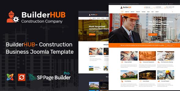 Builder HUB- Construction Business Joomla Template