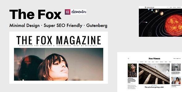The Fox - Minimal Blog/Magazine Theme For Creators