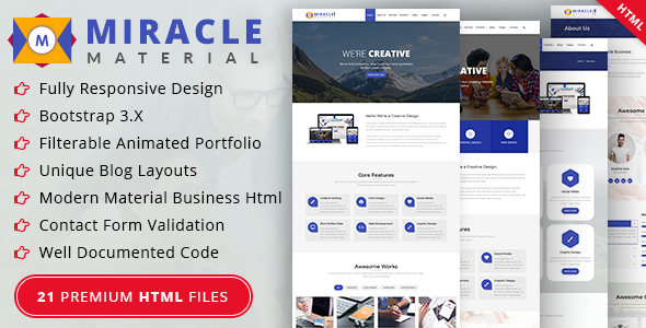 Miracle Material Business HTML Template