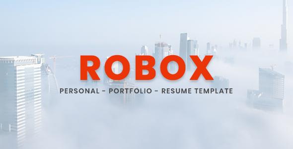 Robox - Personal / Portfolio / Resume Template