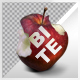 Isolated Red Apple Bite (Rotate Turn Table) - VideoHive Item for Sale