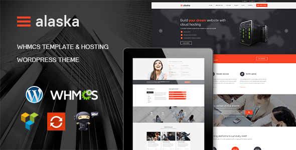 Alaska - WHMCS & Hosting WordPress Theme