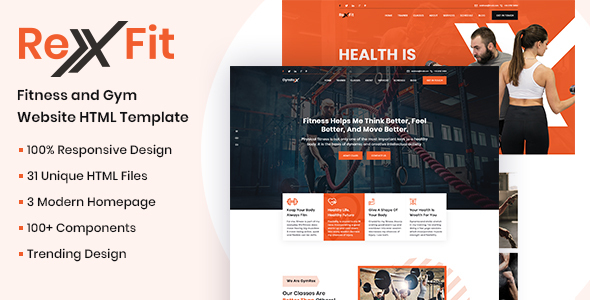 RexFit Gym and Fitness HTML5 Template