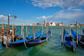 Gondolas and in lagoon of Venice by San Marco square. Venice, Italy - PhotoDune Item for Sale