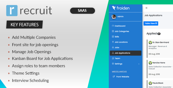 Recruit SAAS - Recruitment Manager Cracked Codecanyon (2 78