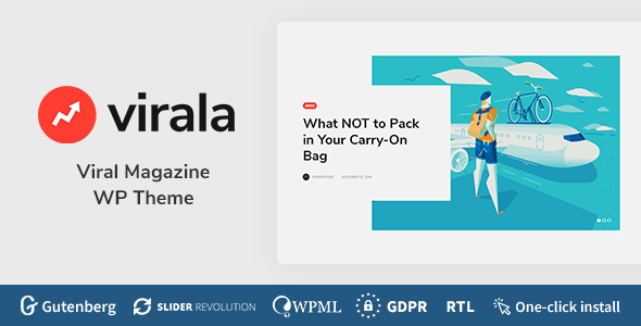 Virala - Viral Magazine WordPress Theme