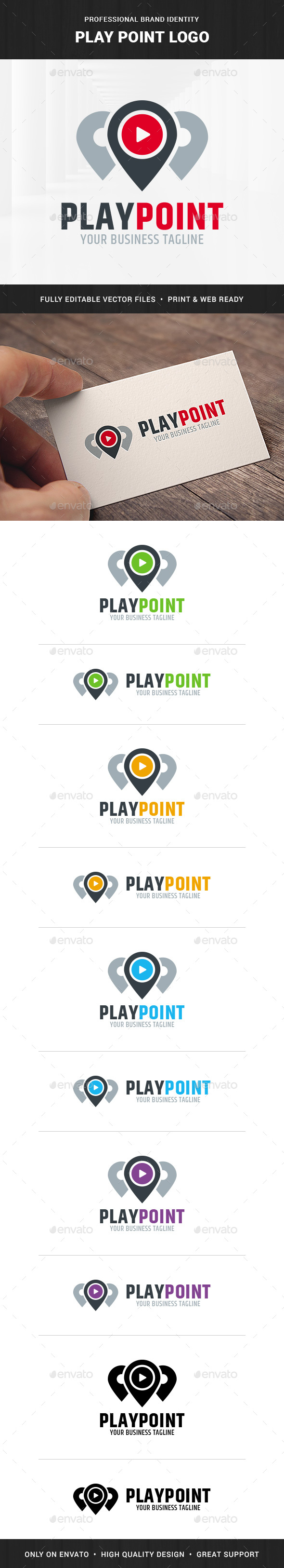 Play Point Logo Template