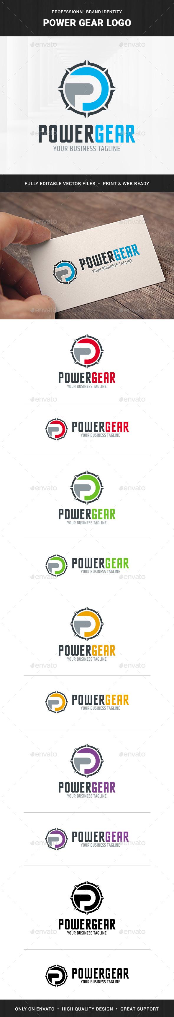 Power Gear - Letter P Logo
