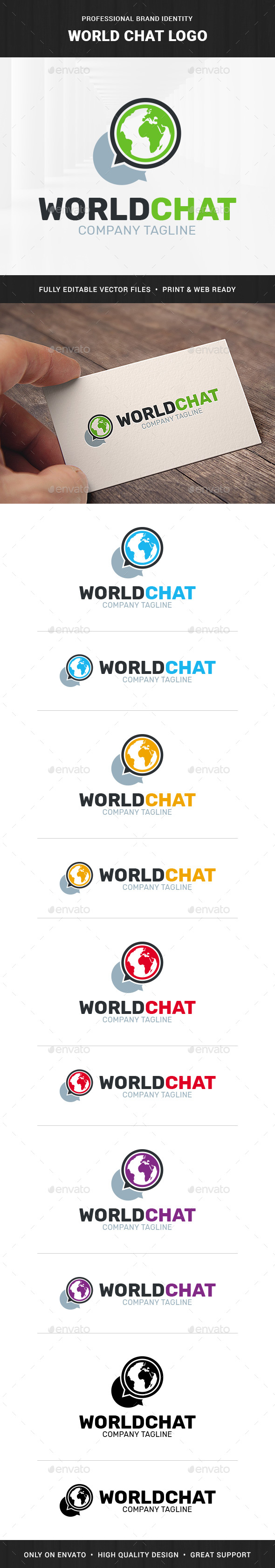 World Chat Logo Template