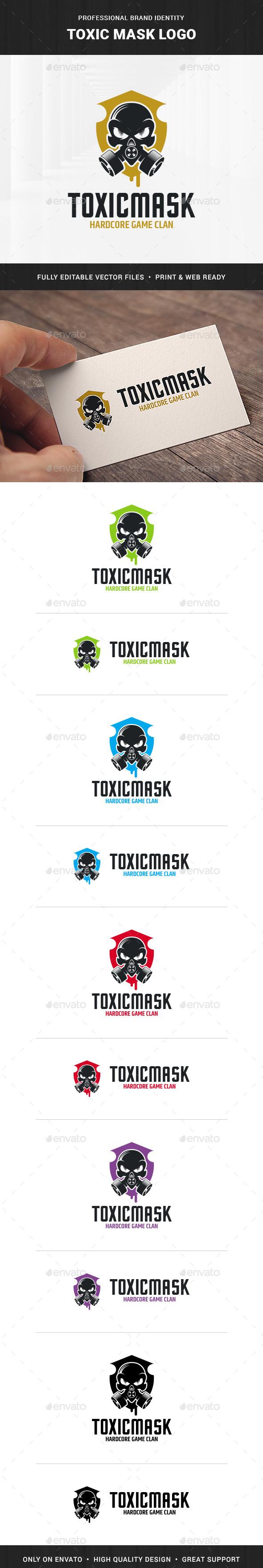 Toxic Mask Logo Template