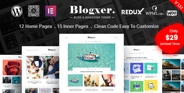Blogxer - Blog & Magazine WordPress Theme