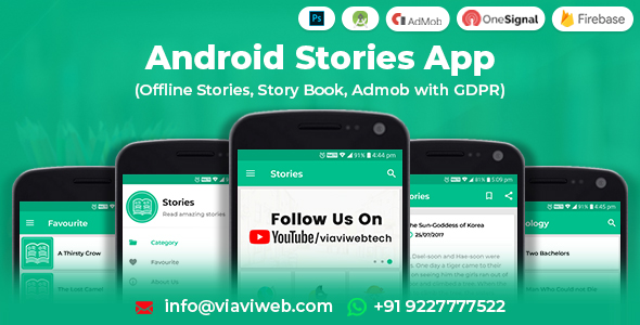 Android Stories App (Offline Stories, Story Book, Admob with GDPR) Download