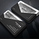 Horizontal Triangle Business Card - GraphicRiver Item for Sale