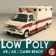 Low Poly Ambulance 02 - 3DOcean Item for Sale