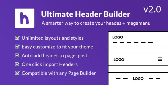 Ultimate Header Builder - Header & MegaMenu Builder for WordPress