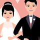 Newlywed Couple in Love Bride and Groom - GraphicRiver Item for Sale