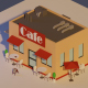 Low Poly Cafe - 3DOcean Item for Sale