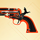 Single action revolver, animated - 3DOcean Item for Sale