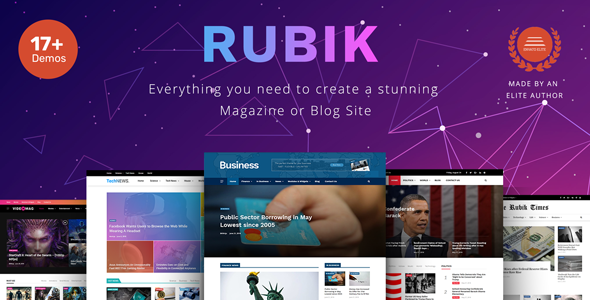 Rubik - A Perfect Theme for Blog Magazine Website