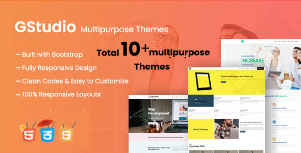 G Studio - Multipurpose Responsive Website Template