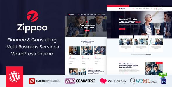 Zippco - Business and Finance Consulting WordPress Theme