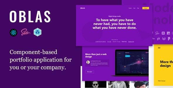 Oblas - React App Portfolio
