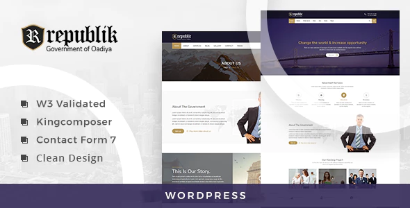 Republik - Government Portal WordPress Theme