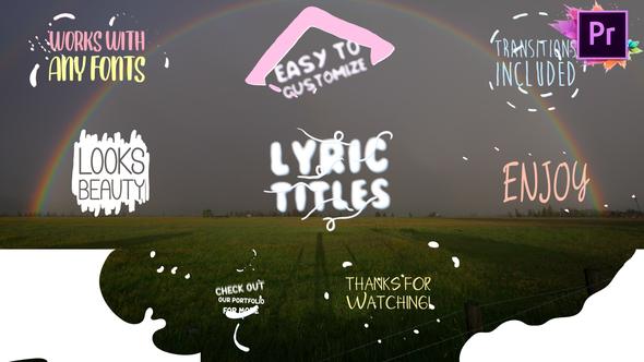 Cartoon Lyric Titles   Premiere Pro MOGRT