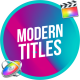 Modern Colorful Titles   FCPX or Apple Motion - VideoHive Item for Sale