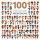 100 Professions Flat Characters - GraphicRiver Item for Sale