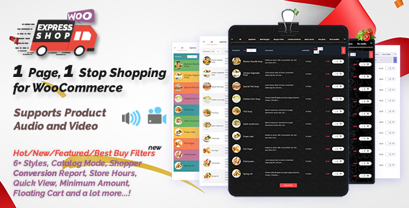 Express Shop for WooCommerce with Audio & Video