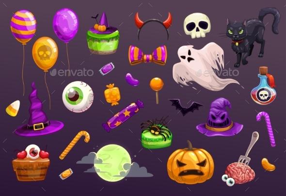 Halloween Items Set